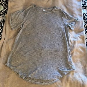 Old Navy white and black striped T shirt